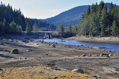 Lago roccioso fotografie stock