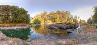 Lago roccioso di HDR Fotografie Stock Libere da Diritti