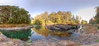 Lago rochoso de HDR Fotos de Stock Royalty Free