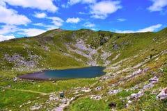 Lago Rodella, sud el Tyrol Italia imagenes de archivo