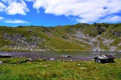 Lago Rodella, sud el Tyrol Italia imagen de archivo libre de regalías