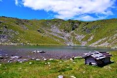 Lago Rodella, sud el Tyrol Italia foto de archivo libre de regalías