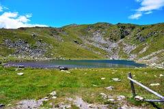 Lago Rodella, sud el Tyrol Italia foto de archivo