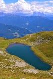 Lago Rodella, sud el Tyrol Italia fotos de archivo libres de regalías