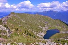 Lago Rodella, sud el Tyrol Italia fotos de archivo