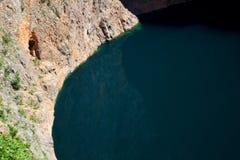 Lago rojo en Imotski Fotografía de archivo libre de regalías