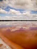 Lago rosado Imágenes de archivo libres de regalías