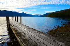 Lago Rotoroa, Nelson Lakes National Park, Tasman, Nova Zelândia Imagens de Stock