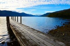 Lago Rotoroa, Nelson Lakes National Park, Tasman, Nuova Zelanda Immagini Stock