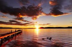 Lago Rotorua, Nueva Zelanda Foto de archivo