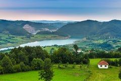 Lago Rovni, Valjevo, Sérvia imagens de stock royalty free
