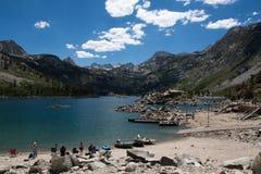 Lago Sabrina em Califórnia Fotos de Stock