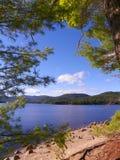 Lago Sacandaga en el Adirondacks del Estado de Nueva York Foto de archivo