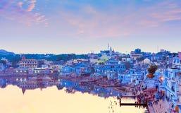 Lago sacro Pushkar, Ragiastan, India Immagine Stock