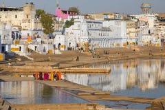 Lago sagrado de Pushkar, la India Imagenes de archivo