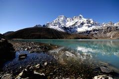 Lago sagrado Gokyo Fotografia de Stock