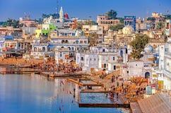 Lago sagrado Pushkar, Rajasthán, la India imagen de archivo libre de regalías