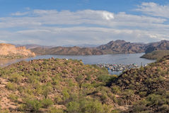 Lago Saguaro Immagini Stock