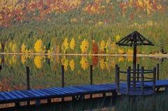 Lago saint Anne en otoño Imagenes de archivo