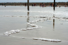 Lago salgado Imagem de Stock Royalty Free