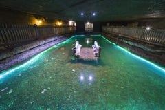 Lago salgado subterrâneo Foto de Stock Royalty Free