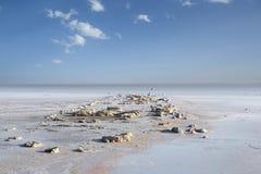 Lago salt Fotografia Stock