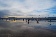 Lago salt Fotografie Stock