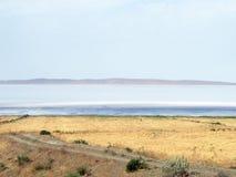 Lago salt, bandeja de sal Imagem de Stock
