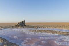 Lago salt em sahara tunísia Foto de Stock