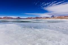 Lago salt en reserva nacional de los flamencos del Los Imagen de archivo libre de regalías
