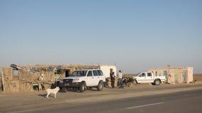 Lago salt en Sáhara túnez imágenes de archivo libres de regalías