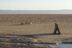 Lago salt nel sahara tunisia fotografia stock libera da diritti