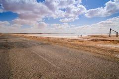 Lago salt Tunisi Fotografie Stock