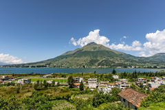 Lago San Pablo, Ecuador Lizenzfreies Stockfoto