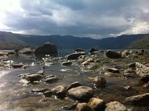 Lago Sanabria fotografia de stock royalty free