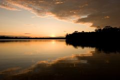 Lago Sandoval Immagini Stock