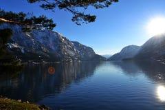 Lago Sandvinvatnet em Odda - Hordaland Foto de Stock