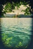 Lago sangrado en Eslovenia Foto de archivo