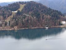 Lago sangrado en Eslovenia Fotos de archivo