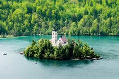 Lago sangrado, Eslovênia, Europa Foto de Stock