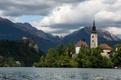 Lago sangrado, Eslovênia, Europa Fotografia de Stock