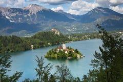 Lago sangrado, Eslovênia, Europa Imagens de Stock