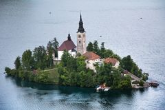Lago sangrado, Eslovênia, Europa Imagem de Stock Royalty Free