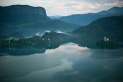 Lago sangrado, Eslovenia Foto de archivo libre de regalías
