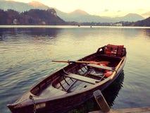 Lago sangrado esloveno foto de archivo