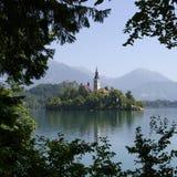 Lago sangrado, Slovenia Fotografia de Stock Royalty Free