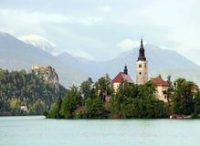 Lago sangrado, Slovenia Fotografia de Stock