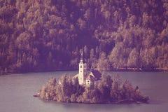 Lago sangrado, Slovenia Imagens de Stock Royalty Free