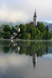 Lago sanguinato Immagini Stock Libere da Diritti