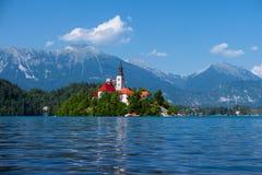 Lago sanguinato, alpi, Slovenia, Europa Paesaggio di estate Fotografia Stock